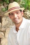 Человек в шлеме сторновки Стоковые Изображения RF