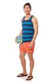 Человек в Swimwear стоковая фотография