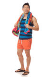 Человек в Swimwear Стоковые Фотографии RF
