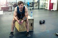 человек гимнастики вне работая Стоковая Фотография RF