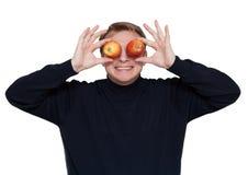 человек глаза яблока Стоковое Фото