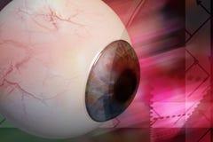 человек глаза иллюстрация вектора