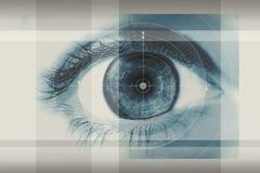 человек глаза Стоковое фото RF