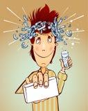 человек головной боли Стоковые Фотографии RF