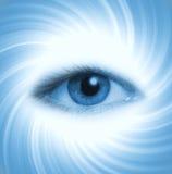 человек голубого глаза предпосылки Стоковые Изображения RF