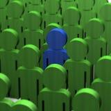 человек голубой толпы зеленый деревянный Стоковые Изображения RF