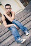 человек голубых джинсов Стоковая Фотография RF
