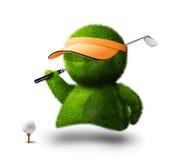 человек гольфа иллюстрация штока
