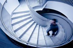 Человек гуляя вверх по шагам Стоковое Фото