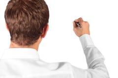 человек делая эскиз к детенышам Стоковое Изображение RF
