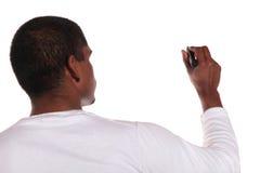 человек делая эскиз к детенышам Стоковая Фотография