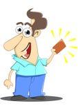 Человек держа выигрывая билет бесплатная иллюстрация