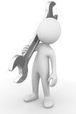 Человек держа ключ Стоковые Фото