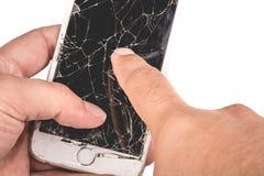 Человек держит в его руке iphone 6S Яблока Inc стоковые изображения