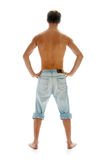 человек джинсыов Стоковое фото RF