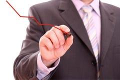 человек диаграммы чертежа Стоковое Фото