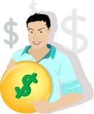 человек доллара Стоковые Фотографии RF