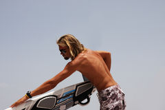 человек доски windsurfing Стоковое Изображение