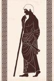человек древнегреческия иллюстрация вектора
