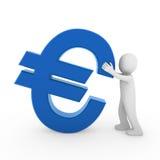 человек евро 3d иллюстрация штока