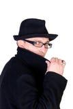 человек загадочный Стоковая Фотография
