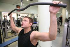 человек здоровья гимнастики 3 клубов стоковое изображение
