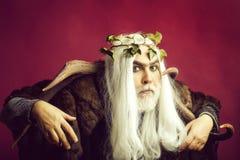 Человек Зевса с antlers стоковая фотография