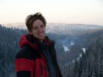 Человек зимы Стоковое фото RF