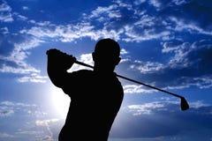 человек игрока в гольф Стоковые Изображения