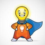 Человек идеи. Супергерой Стоковое фото RF