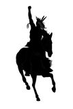человек индейца лошади Стоковые Фотографии RF