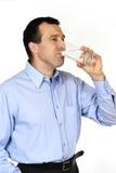 человек испытывающий жажду стоковое изображение rf