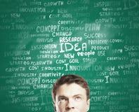 Человек и бирки Стоковое Изображение