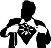 человек идей супер Стоковое Изображение RF