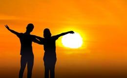 Человек и женщина в влюбленности Стоковые Изображения RF