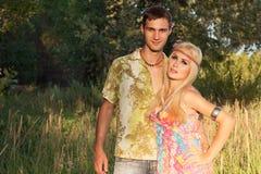 Человек и красивейшая блондинка Стоковое Фото
