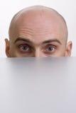 человек кабины над peering Стоковое Изображение RF