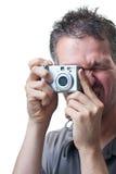 человек камеры цифровой снимая малую белизну Стоковое фото RF