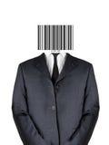 человек кода штриховой маркировки Стоковое Изображение