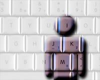 человек компьютера Стоковое Фото
