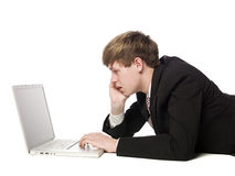 человек компьютера Стоковое Изображение RF
