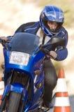человек конуса проходя безопасность Стоковая Фотография RF