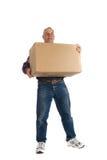 человек коробки счастливый Стоковые Изображения