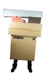 человек коробок Стоковые Изображения