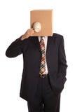 человек кофе пролома коробки Стоковое фото RF