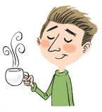 человек кофе Стоковое Изображение RF