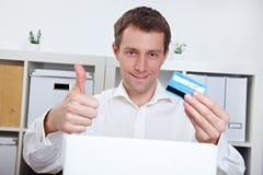 человек кредита визитной карточки Стоковые Изображения