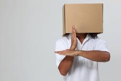 человек крышки коробки Стоковое Изображение RF