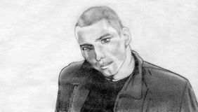 человек куртки кожаный Стоковые Фотографии RF