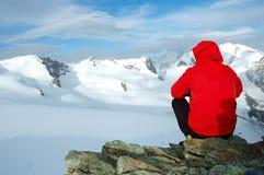 человек ледников стоковое изображение